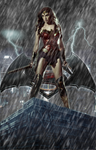 Batman v Superman Character Poster - WONDER WOMAN by RedHood2913