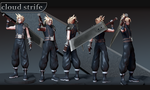 Cloud Strife final by Zbrush-Hero
