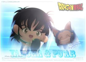 Yamcha and Puar in bomb style by Kauthar-Sharbini