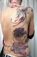 Backpiece Flower Tattoo by 2Face-Tattoo