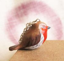Robin necklace by FlowerLandBySaraMax