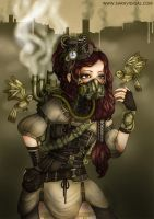 Steampunk Girl by evilshara