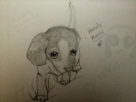 OMG RANDOM PUPPY DRAWING!! by dezzidoodlebug