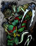 Raphael Vs Predator color by Polystyrate