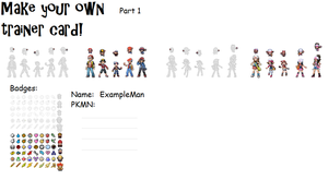 Make Your Own Trainer Card Pt1 by bojangle387