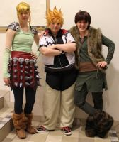 Hiccup and Astrid... and Roxas? by Kozekito
