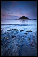 St Michaels Mount - Blue by Wivelrod