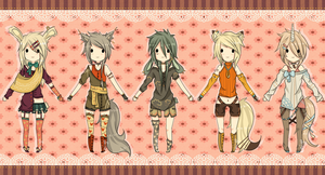 Adoptables Mixed Set - CLOSED by Chi-Adopts-Yo