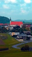 Village skyline on a cloudy day by patrickjobst