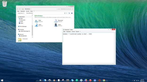 Windows 7 Mavericks - taskbar dock - theme by Dave2399