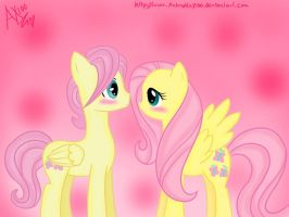 Fluttershy and Butterscoch ( remake) by AntonellaX100