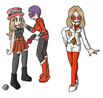 Serena Team Flare Admin Recolour by ChaosOverlordZ