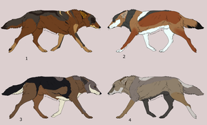 Natural wolf adoptables [1 LEFT OPEN] by FluffyKennels