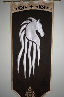 Rohirrim banner by Forge-Prongs