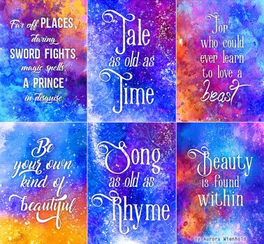 Tale as old as Time - Print Set - Beauty and Beast by AuroraWienhold