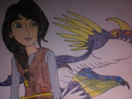Heather and her Deadly Nadder by Kailie2122