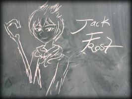 My chalk Jack Frost Drawing by heArtLove-3