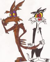 Wile and Sylvester by DoofenEmpire