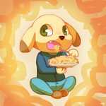 Art trade - Pasta! by Flavia-Elric