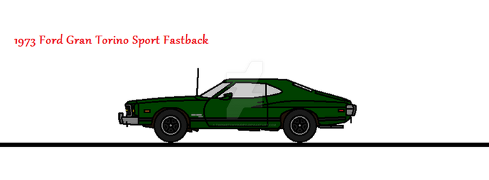 1973 Ford Gran Torino Sport Fastback by thesketchydude13