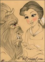 Beauty and the Beast SKETCH FEST 33 by Katerina-Art