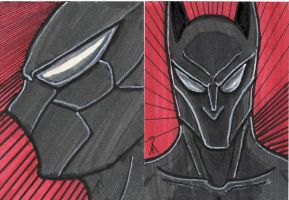 Batman Beyond Sketch Cards by Archonyto