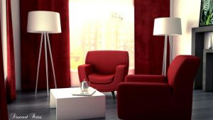 Red Interior by NoxDawood