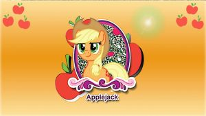 Wallpaper everyopony like Applejack by Barrfind