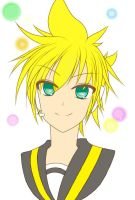 Len Kagamine Lineart By Xyumyumx97-d4yrnj9.png by Tomato95