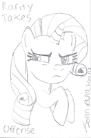 Rarity Takes Offense by lcponymerch