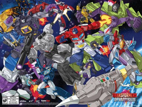 Transformers Devastation SDCC 2015 Poster by GuidoGuidi