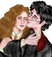 Harry and Hermione 7th year by esicardi