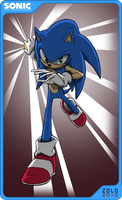 SONIC:2010 Collectible Card by ProfessorZolo