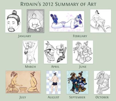 2012 Summary of Art by Rydain