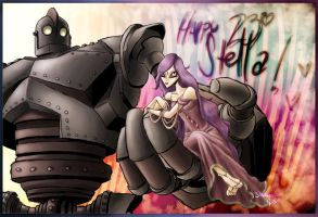 Starla and the Iron Giant by Gingerscoffee