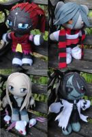 Commission, Otherworlde Mini Plushies Set by ThePlushieLady