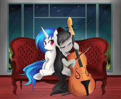 Comm: Vinyl and Octavia by Chokico
