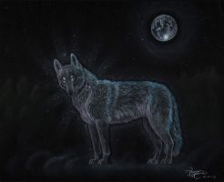 Wolf of light by LarimarDragon