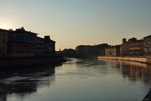 Sunset in Arno River by Lynx-Pardina