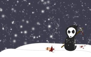 x-mas reaper by invaderjohn