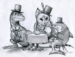 Fancy Tea Party by RobtheDoodler