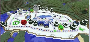 minecraft mario party 3 chilly waters map by PuccaLoves