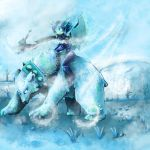 Deathknight on polar bear by AlexiLaihoCOBHC
