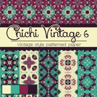 Free Chichi Vintage 6 Patterned Papers by TeacherYanie