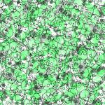 Green Skull Pattern by Gummi-Zombie