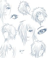 Zexion sketches by x-Lilou-chan-x