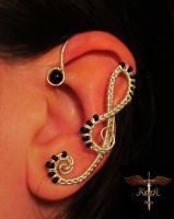 Hear the music, earcuff by alina-loreley
