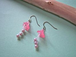 Pink Spring Lily Earrings by KimNichole