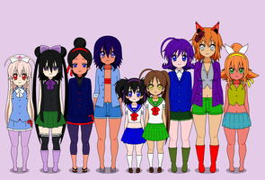 My 9 Girls Exports by Rokku-D