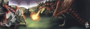 New Monster Hunter Arena by Orphenoch